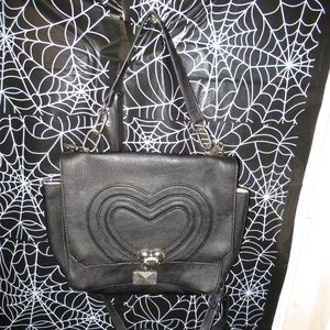 Betsey Johnson Heart Locket Crossbody Bag